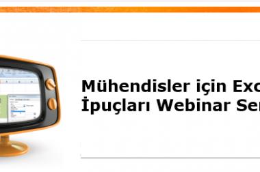 Mühendisler için Excel İpuçları Webinar Serisi
