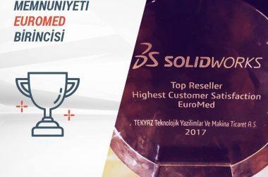 """""""SOLIDWORKS En Yüksek Müşteri Memnuniyeti EUROMED"""" Birincisi TEKYAZ!!!"""