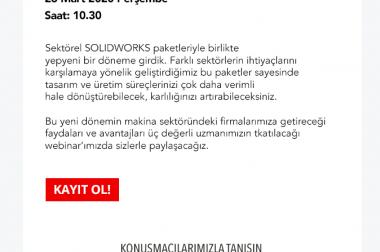 MAKİNA TASARIM PAKETİ WEBİNARI